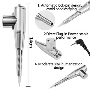 Image 2 - Microblading Tattoo Machine Pen Eyebrow Lip Eyeliner Permanent Makeup 3D Embroidery with Power Supply Adaptor for Needles Tips