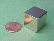NdFeB Magnet Block 3/4x3/4x3/4 thick Strong Neodymium Permanent Magnets Rare Earth Magnets Grade N42 NiCuNi Plated 1pc 30 x 20 x 10mm strong block cuboid rare earth neodymium magnets n50 permanent magnet powerful magnet square magnet