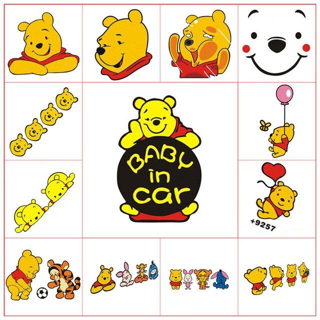 Baby An Bord In Auto warnung aufkleber Winnie Pooh Bär kollidierte ...