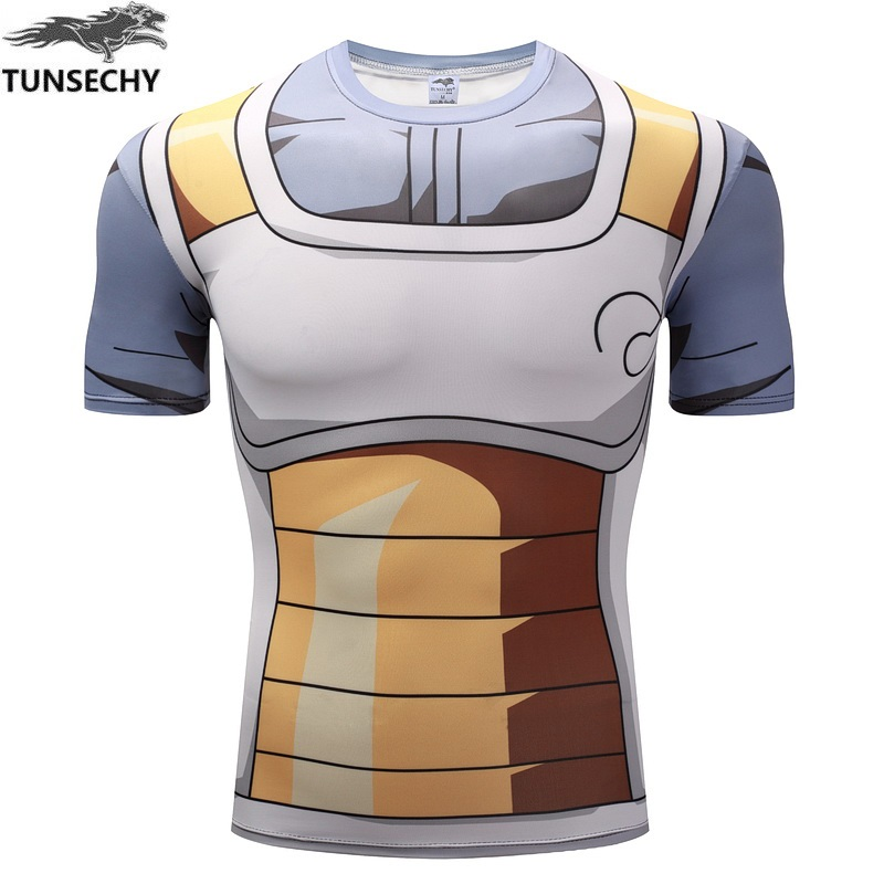 WAIBO BEAR New dragon ball t shirt Men armor 3d t-shirt printed compression shirt tops Fitness tight Sports tee shirt homme