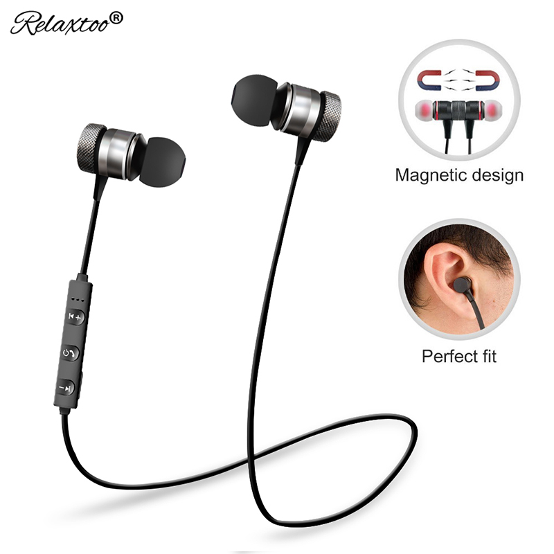 Relaxtoo Bluetooth Earphone For iPhone Sports Wireless Headphone in ear With Mic Stereo Auriculares Headset Earbuds Earpiece