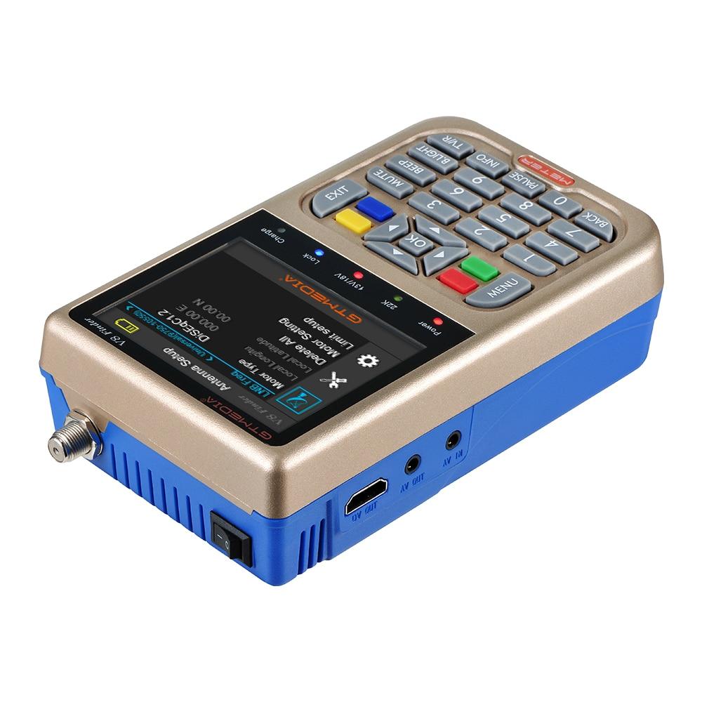 Image 4 - Newest Satellite Finder GTmedia V8 Finder Meter Satfinder Measurements of DVB S/S2/S2X signals HD 1080P Sat Finder with Battery-in Satellite TV Receiver from Consumer Electronics