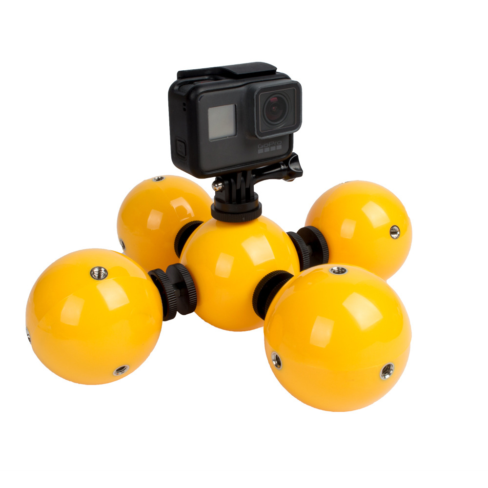 Holder Underwater Floating Buoyancy ball Float for Gopro hero 6 5 4 3 for Xiaomi yi Go pro SJCAM 4k mijia Sport Action Camera wewow sport x1 handheld gimbal stabilizer 1 axis for gopro hreo 3 3 4 smartphone iphone 7 plus yi 4k sjcam aee action camera