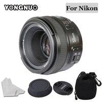 YONGNUO 50 мм объектив YN50MM F1.8 большой апертурой Авто фокусная линза для Nikon D5300 D3400 D3200 D3100 D7200 D800 D300 D700 DSLR Камера