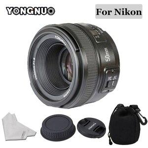 Image 1 - YONGNUO 50mm Lens YN50MM F1.8 Large Aperture Auto Focus Lens for Nikon D5300 D3400 D3200 D3100 D7200 D800 D300 D700 DSLR Camera