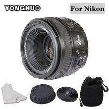 YONGNUO 50mm lente YN50MM F1.8 gran apertura lente de enfoque automático para Nikon D5300 D3400 D3200 D3100 D7200 D800 D300 D700 DSLR Cámara