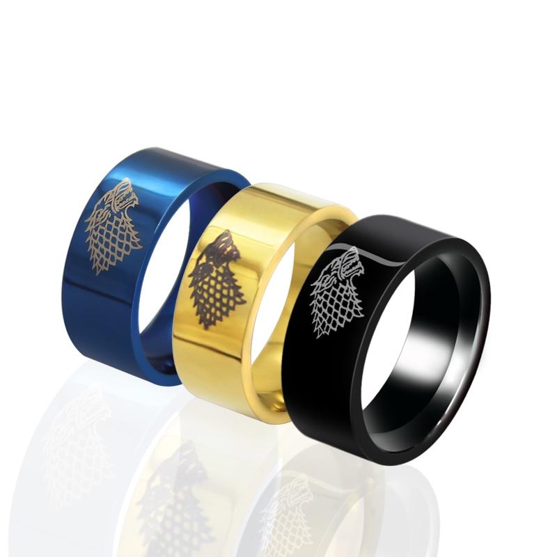 Punk Wolf Head Ring Men Ring Stainless Steel Ring