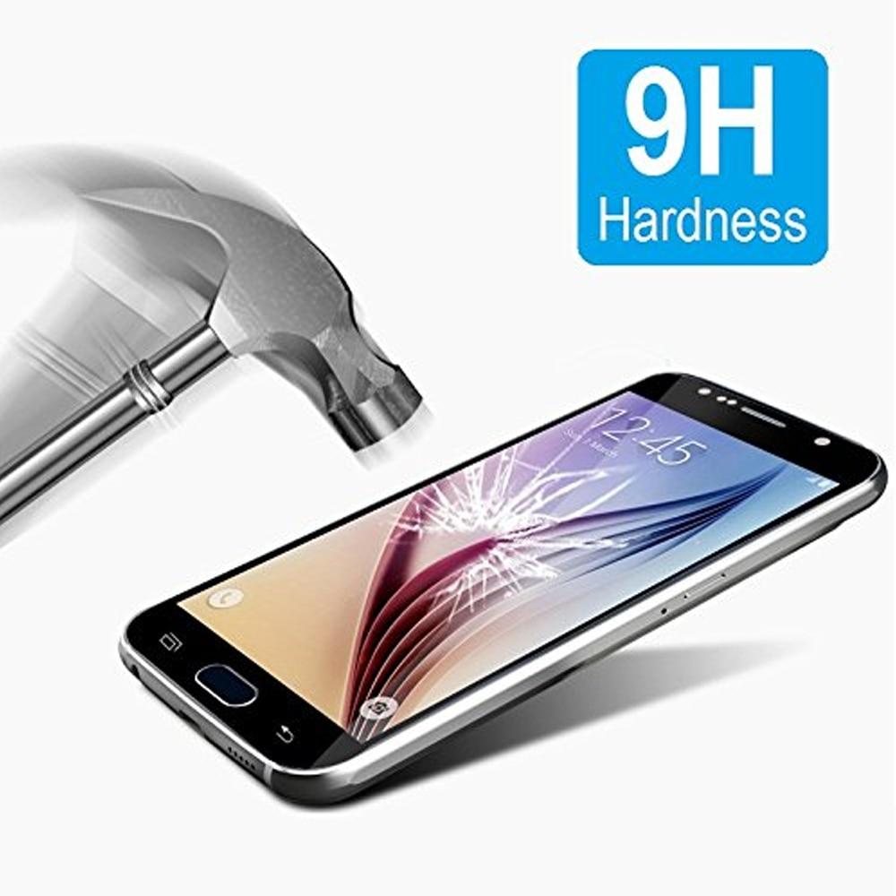 0.26MM 2.5D gücləndirilmiş ekranlı çap Samsung Galaxy S7 S6 S5 - Cib telefonu aksesuarları və hissələri - Fotoqrafiya 3