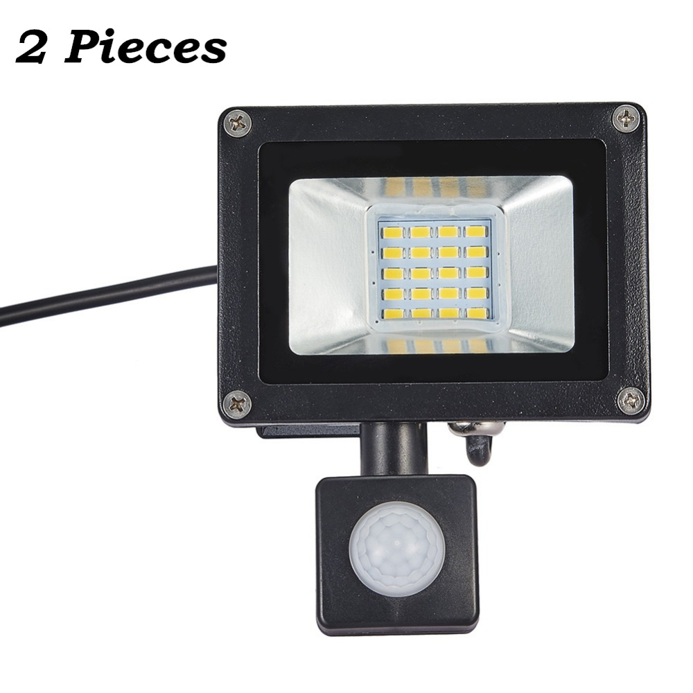 2 Pcs <font><b>20W</b></font> PIR Motion Sensor <font><b>LED</b></font> Flood Light 220-240V 20 <font><b>LED</b></font> SMD 5730 2200LM Reflector <font><b>LED</b></font> Lamp <font><b>Floodlight</b></font> For Outdoor Lighting image