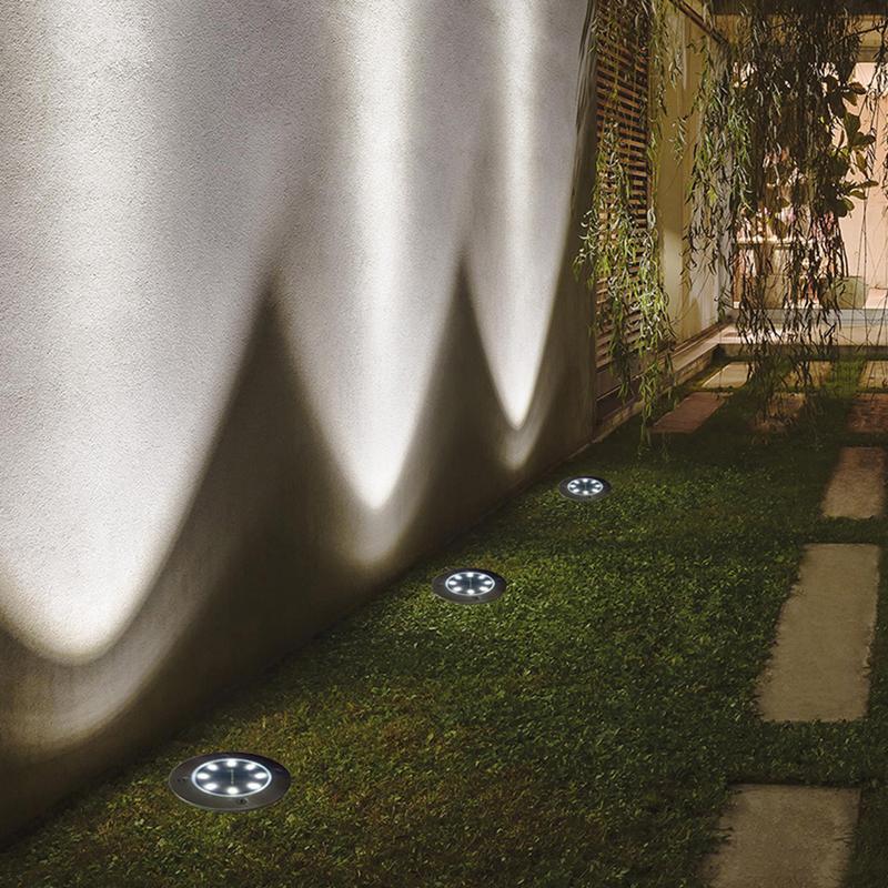Luz solar do jardim do diodo emissor de luz energia solar lâmpada gramado à terra com sensor de luz sensível luzes ao ar livre à prova dwaterproof água