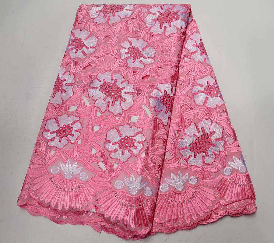 Beautiful Pink color African Cotton Lace Fabrics High Quality Dry Lace Fabric Swiss Voile Lace In Switzerland For Women Dress Beautiful Pink color African Cotton Lace Fabrics High Quality Dry Lace Fabric Swiss Voile Lace In Switzerland For Women Dress