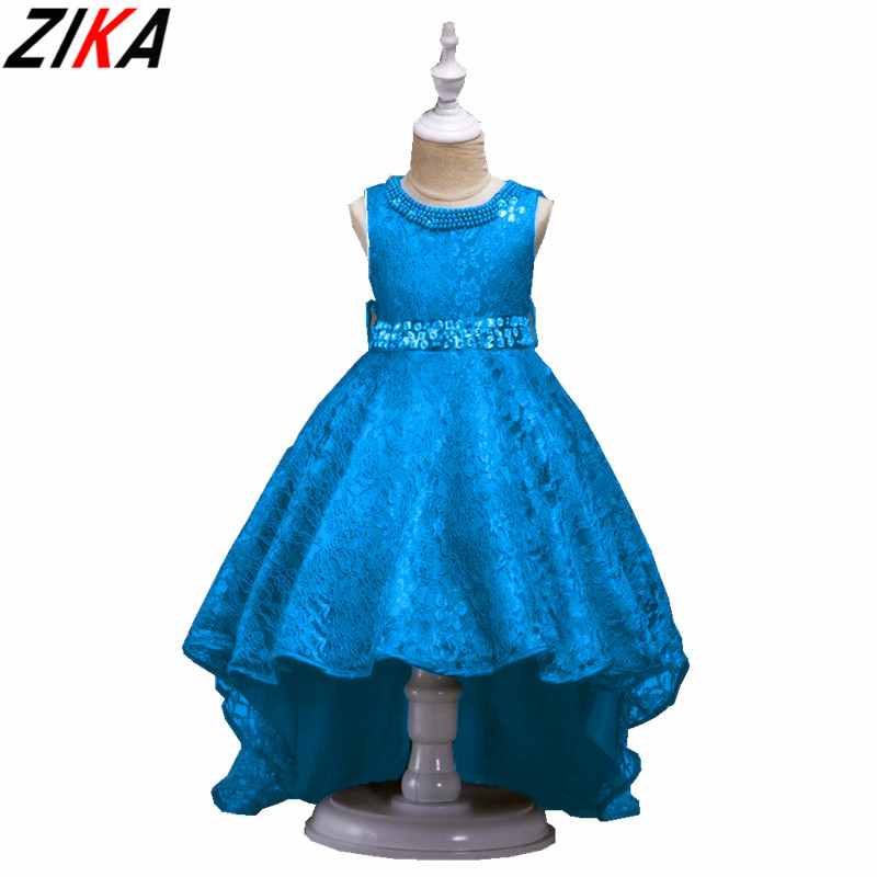 ZIKA Formal Evening Wedding Princess Dresses 3-14T Kids Irregular Dovetail Dress Children Clothing Party Dress for Girl Clothes baby girls white dresses for wedding and party wear girl princess dress kids lace clothes children costume age 3 4 5 6 7 8 9 10
