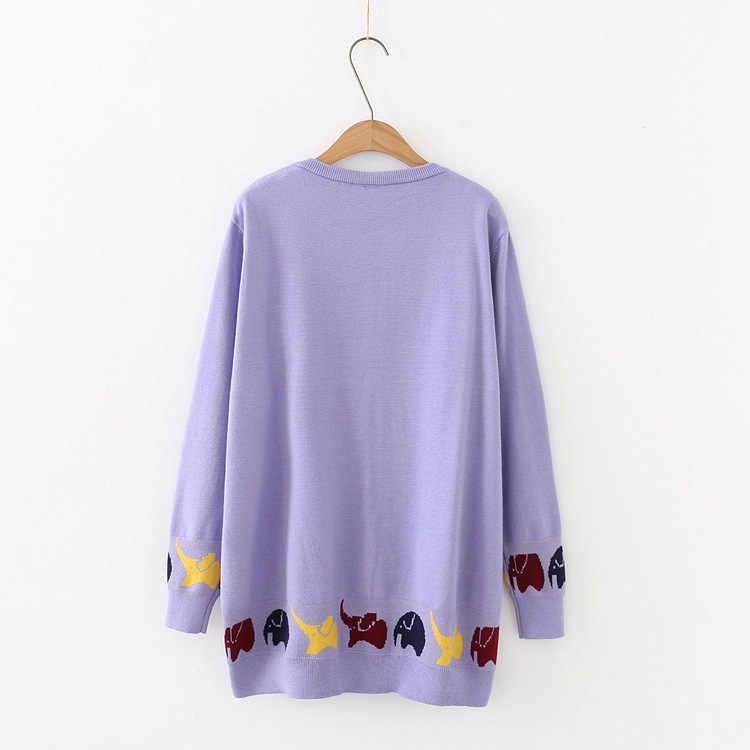F7 осень-зима Свободные свитеры 5XL плюс Размеры женская одежда модные Свободные Вязание пуловеры 207