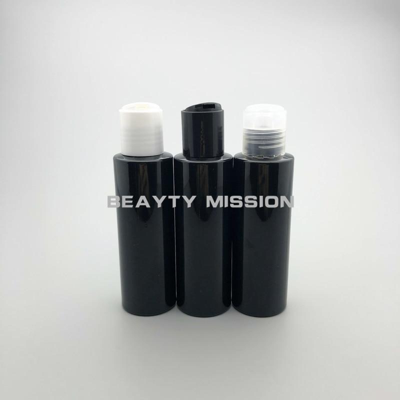 美容ミッション 48 ピース 100 ミリリットル黒空のプラスチック黒/透明/白ディスクトップキャップ、オイルボトル、シャンプーボトル  グループ上の 美容 & 健康 からの 詰め替えボトル の中 1