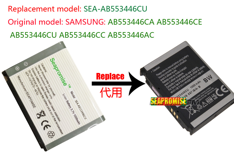 wholesale 10PCS AB553446CU battery for <font><b>SAMSUNG</b></font> 920SE,i620,A76,A767,<font><b>F480</b></font>,F488,F488E,W569,W509 image