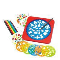 Spirograph 예술 공예 장난감 도면 템플릿 어린이 그리기 도구, 선물 팩, 그림 세트