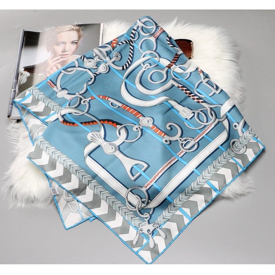 100% Twill Silk Scarf Hijab Head Scarves For Women Fashion Silk Scarves Shawl Square 35