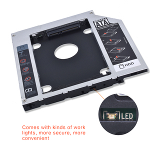 """Универсальный алюминиевый жесткий диск TISHRIC 9,5 12,7 мм SATA 3,0 на SATA 2,5 """"SSD OptiBay HDD металлический корпус для ноутбука ODD CD-ROM DVD-ROM"""