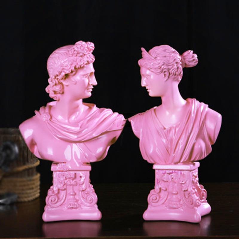David Head Portraits Bust Men/Lady Statue Michelangelo Buonarroti Home Desktop Decoration Office Resin Art&Craft 42 Cm L2115