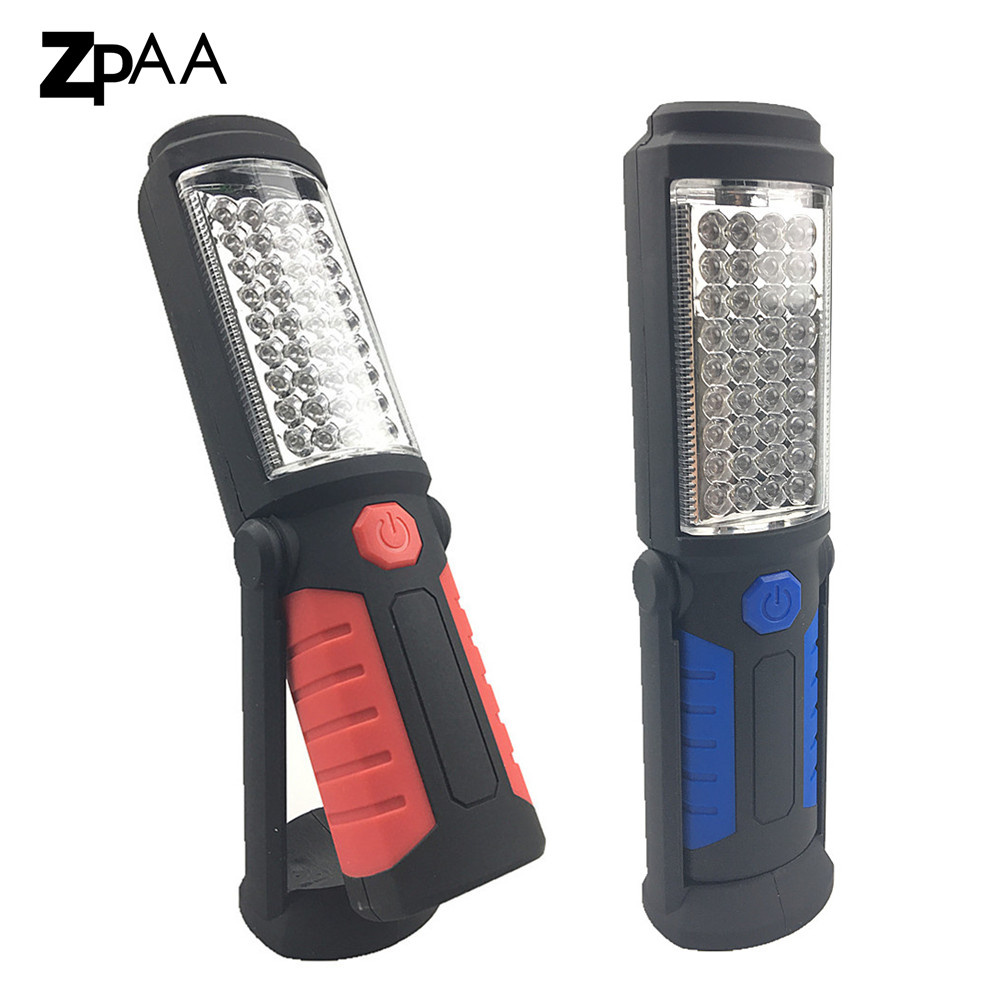 ZPAA USB Rechargeable Work Light 41 LED Flashlight Magnetic Emergency Led Torch Flash Light Portable Lamp for Car Auto Repair anjoet led work light magnetic emergency torch flash hanging lamp usb rechargeable flashlights built in 18650 for auto repair