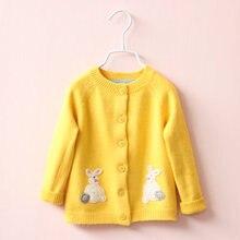 2016 Новая зимняя осень детские девушки мультфильм свитер детей свитера детские свитера дети верхняя одежда свитера 2