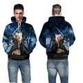 Fashion Hot 3D Galaxy colorful Meow star people cute lovely starry sky archmage cat mens boys funny Hoodies Sweatshirt Men/Women