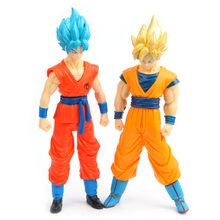 Dragon ball Z Super Saiyan Goku Vegeta Saiyan figuras Dragonball DBZ filho de goku vegeta action figure modelo Brinquedos estatueta(China)