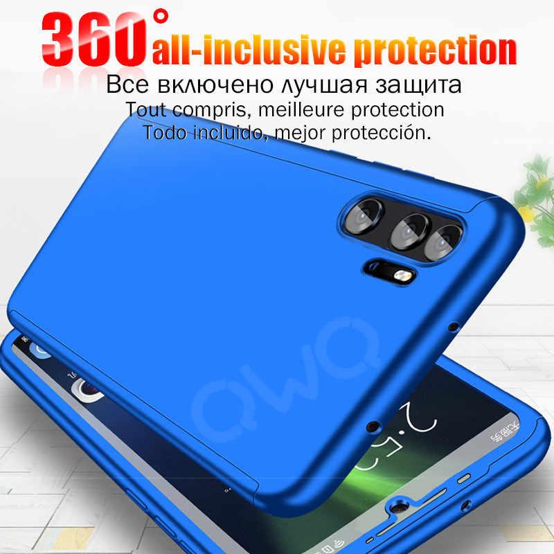 360 degree matte Phone case For Huawei p20 p30 Mate 20 10 lite pro full protective Cover For Huawei P10 lite nova 3 3i hard PC