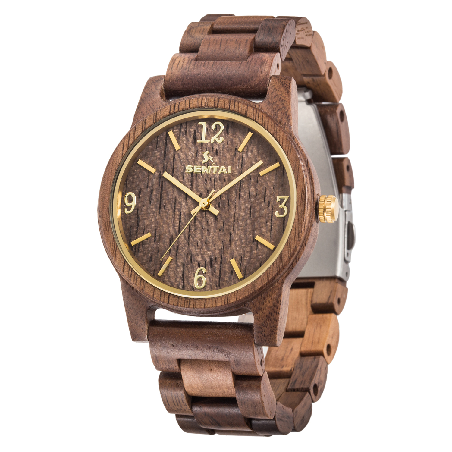 Luxury Brand Mens Wooden Watch Arabic Numberal Big Dial Wood Band Quartz Male Wrist Watch Reloj de Madera Genuine for Gifts
