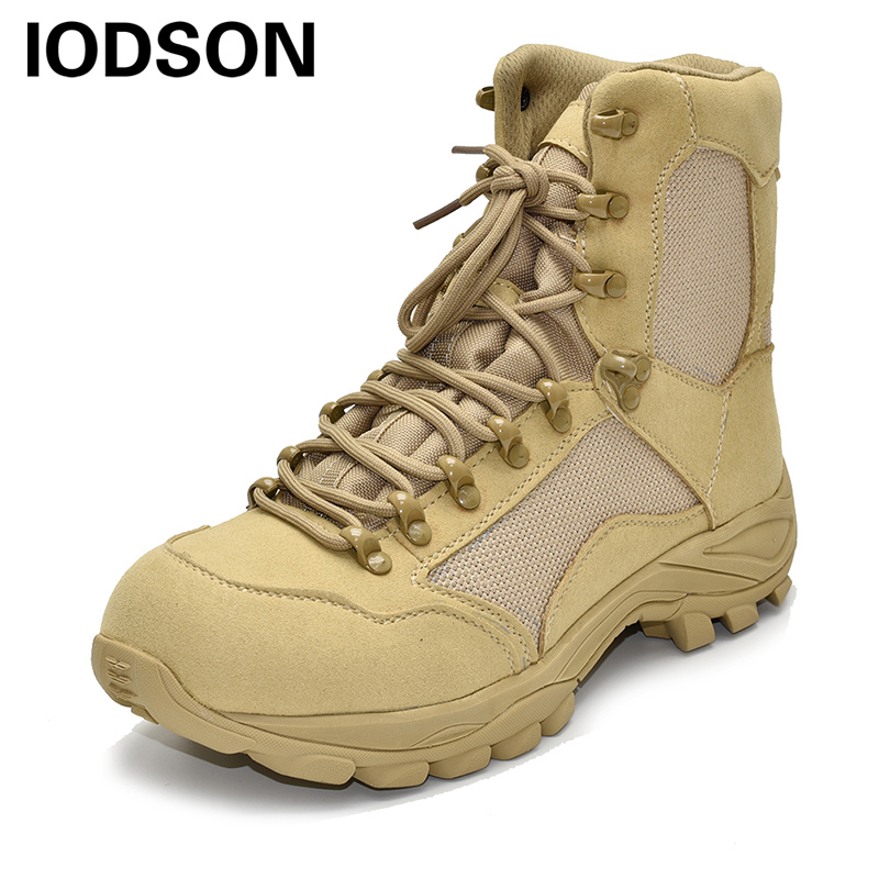 Winter/Autumn Outdoors Army Boot Men's Military Desert Tactical Boots Special Force Work And Safety Boots Ankle Combat Shoes 303