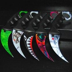 CS IR Borboleta em faca Karambit faca dobrável lâmina presente faca formação Prática balisong faca não de metal afiada