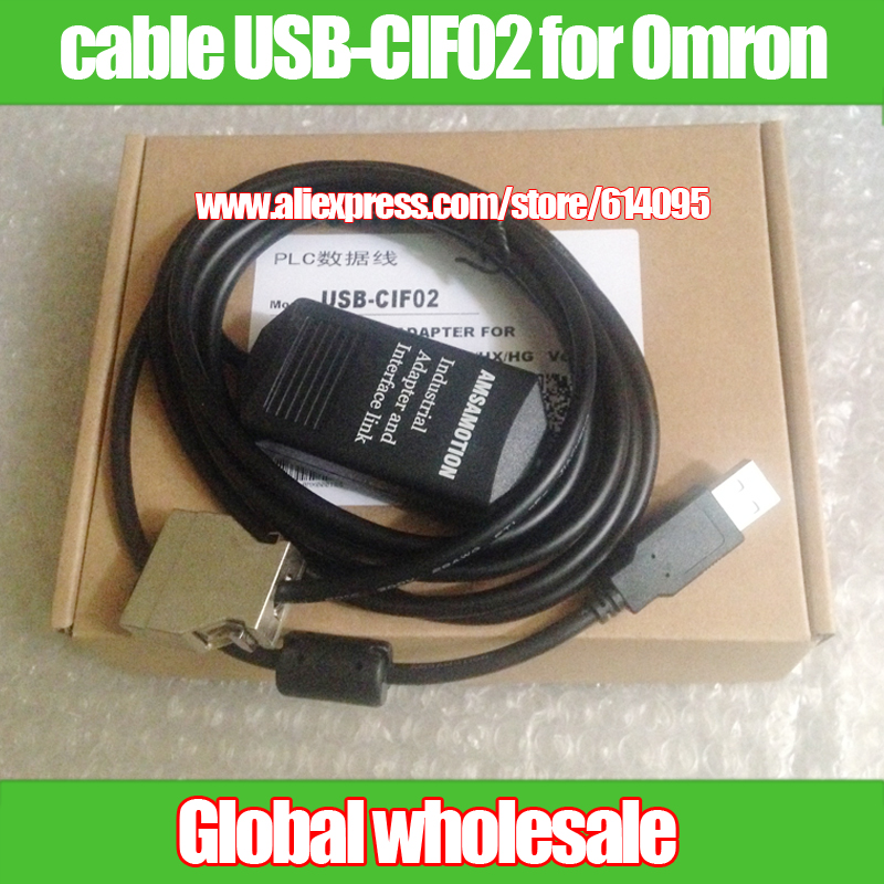 PLC programming cable USB-CIF02 for Omron / USB-CIF02 use for CPM1 / CPM1A / 2A / CQM1 / C200HS / C200HX / HG HE SRM1 series PLC