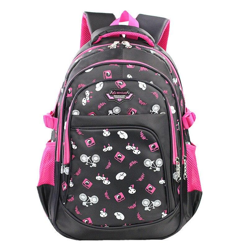 Высокое качество Большой Школьные ранцы для Обувь для девочек детей Рюкзаки учащихся начальной Рюкзаки waterpfoof школьный Дети Книга сумка ...