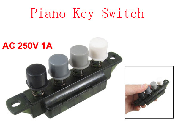Home Appliance Parts Loyal Electric Fan Four Hood Press Button Dark Green Piano Key Switch Ac 250v 1a 5pcs In Pain