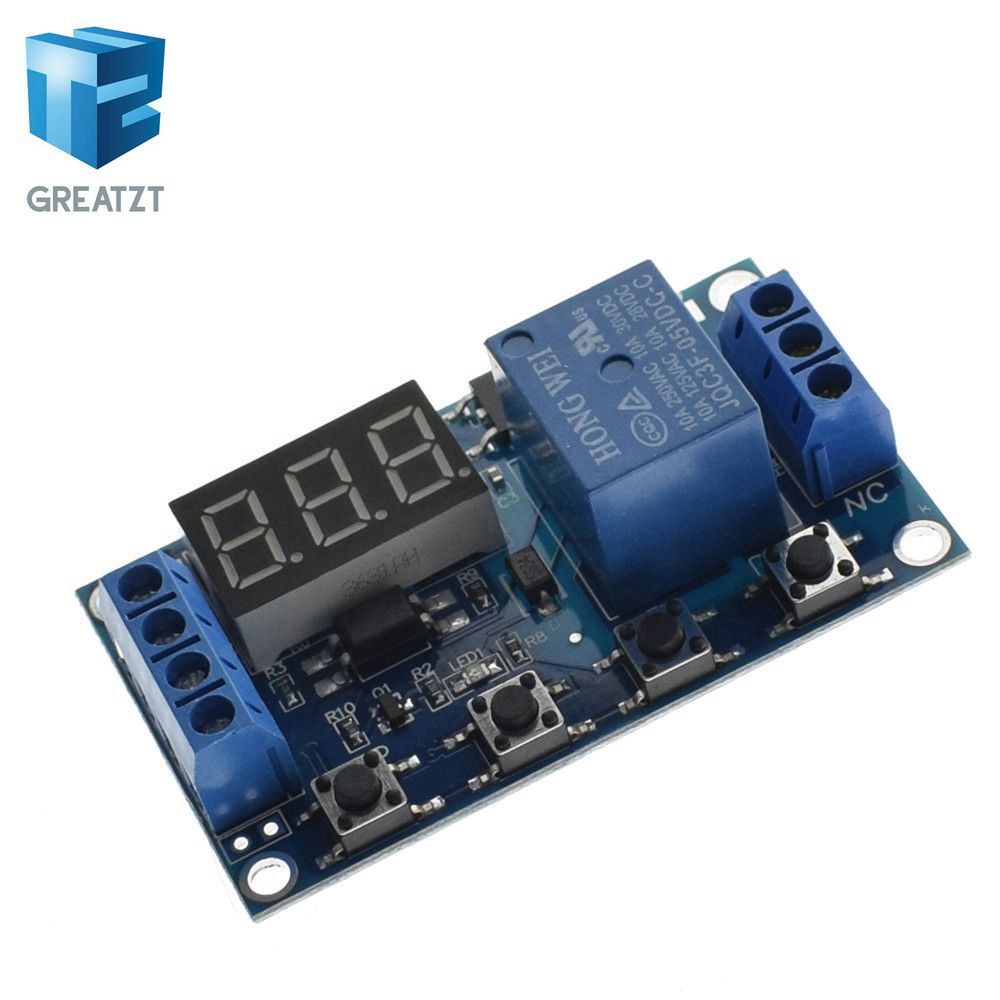 Dc 5v 12v 24v 4 Channel Pro Mini Plc Board Relay Shield Module For Cyclic Wiring Diagram 1 Time Delay Trigger Off On Switch Timing Cycle