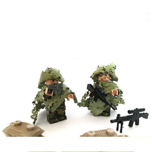2pcs Lurkers Sniper Original Blocks Educational Toys Swat Police Military Weapons Gun Model City Accessories Lepin Mini figures marines weapons original block gun toys swat police military lepin weapons army model kits city compatible lepin mini figures