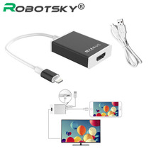 Robotsky HDMI Cable for iPhone Male to HDMI Female Adapter For Iphone 6 5s SE 7 6s Plus Ipad 1080P HDTV TV Adapter Connector