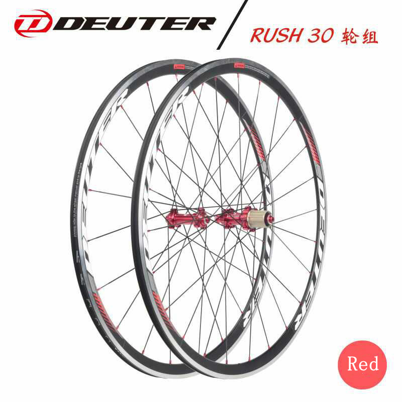 <font><b>700C</b></font> Road bicycle wheelset CNC <font><b>rim</b></font> cycling Bike wheel 4 bearings with hub compatible 11 speed racing clincher 4 colors V brake image