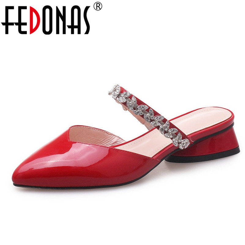FEDONAS Women Sandals Fashion Slippers Close Toe Summer Genuine Leather Shoes Woman Sexy Rhinestone Night Club Prom Pumps ShoesFEDONAS Women Sandals Fashion Slippers Close Toe Summer Genuine Leather Shoes Woman Sexy Rhinestone Night Club Prom Pumps Shoes