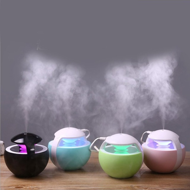Portable USB Air Humidifier Essential Oil Diffuser with Colorful LED Light Air Purifier for Home Office Aromatherapy Humidifier
