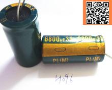 1pcs/lot H096 35v 6800UF aluminum electrolytic capacitor size 18*35 6800UF35V