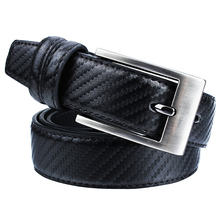Leather Belt for Men Formal Black mens Leather Belts with Pin Buckle High Quality Business Strap Belt 22mm 24mm silicone rubber watch band for panerai luminor radiomir stainless carved pre v buckle strap wrist belt bracelet black