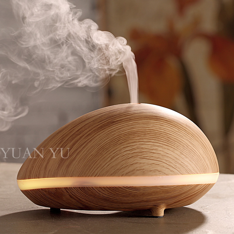 ФОТО 2pcs Mini Wood Grain Aromatherapy Humidifier Aroma Diffuser Air Purifier LED Color Changing Ultrasonic Humidifier Mist Maker