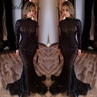 Save 31.6 on Unique Long Sleeve Glitter Black Mermaid Sequin Prom Dress 2017 Sparkly Special Evening Party Gowns Vestido Formatura