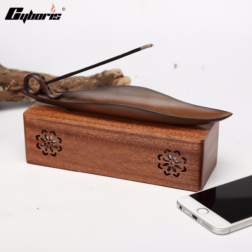 CYBORIS Wooden Bluetooth 4.2 Speaker Wireless Speakers Environmental Wood Portable Desk Computer Loudspeaker Box Support TF Card
