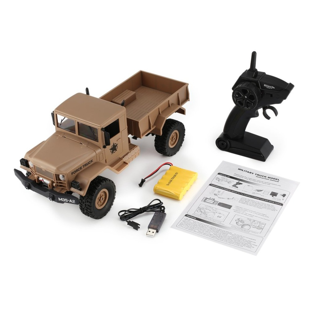 FY001B Car WPL 4WD 1/16 Remote Control Military Truck Replaceable Wheel Drive Off Road RC Climbing Car Christmas Gifts Toys
