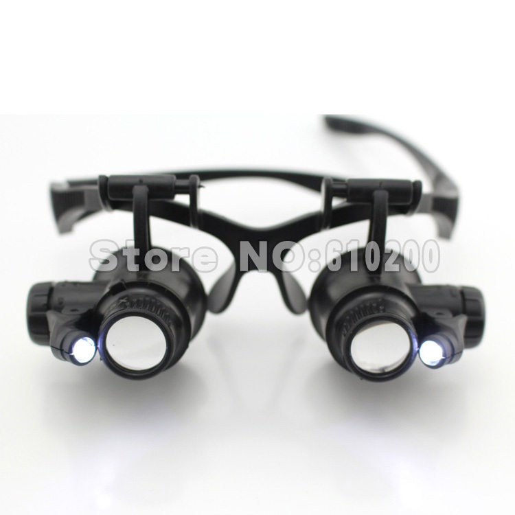 Free shipping LED headband magnifying glasses type ...