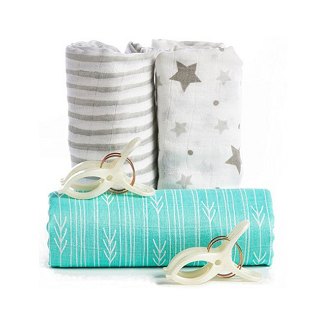 Baby Bamboo Blanket Pattern: Baby Bamboo Muslin Swaddle Blanket Nautical Design Infant