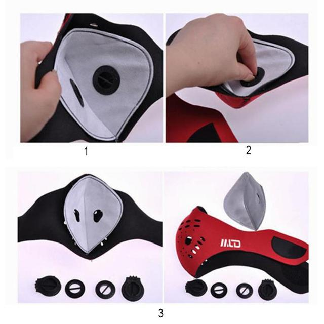 NEW Outdoor Dust Mask Replace Cycling Activated Carbon 5-Layer PM2.5 Filter Anti-Pollution Mask Insert Protective Filter Cloth