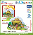 New 2014 Clever&Happy 3d puzzle Flood&Rainbow,  Noah's Ark child puzzle early learning toy paper handmade model